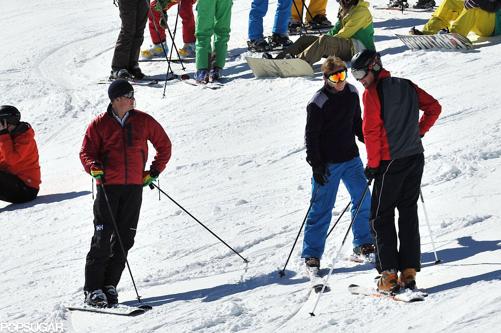 Kate Middleton Hits the Swiss Alps With William, Harry, and Friends