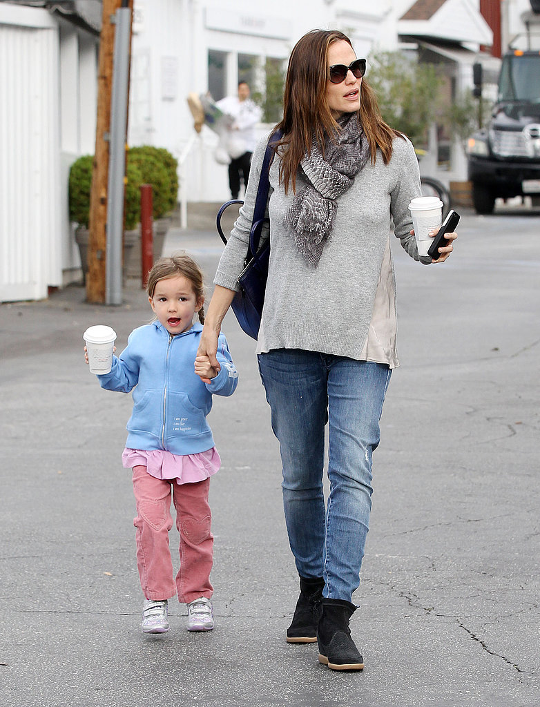 Jennifer Garner and Seraphina Affleck were on the go in Brentwood.