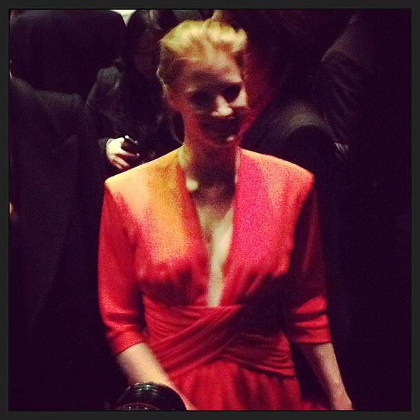 Jessica Chastain was just one of the stars in the packed front row.