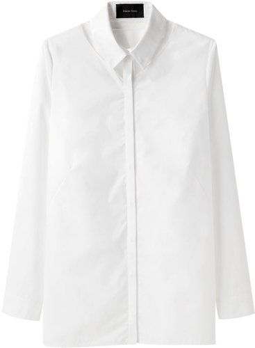 Simone Rocha  / Cotton Shirt with Tulle Detail