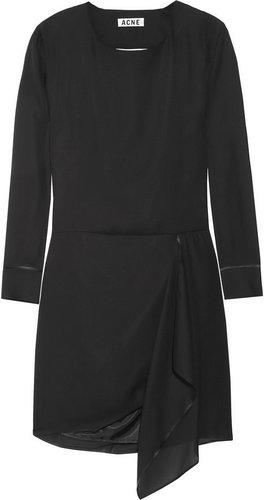 Acne Adelle Tape open-back chiffon dress