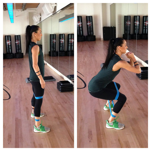 Equinox South Beach >> 2. Lateral Squat with Band | 5 Moves to Get You Bikini-Ready Now | POPSUGAR Fitness