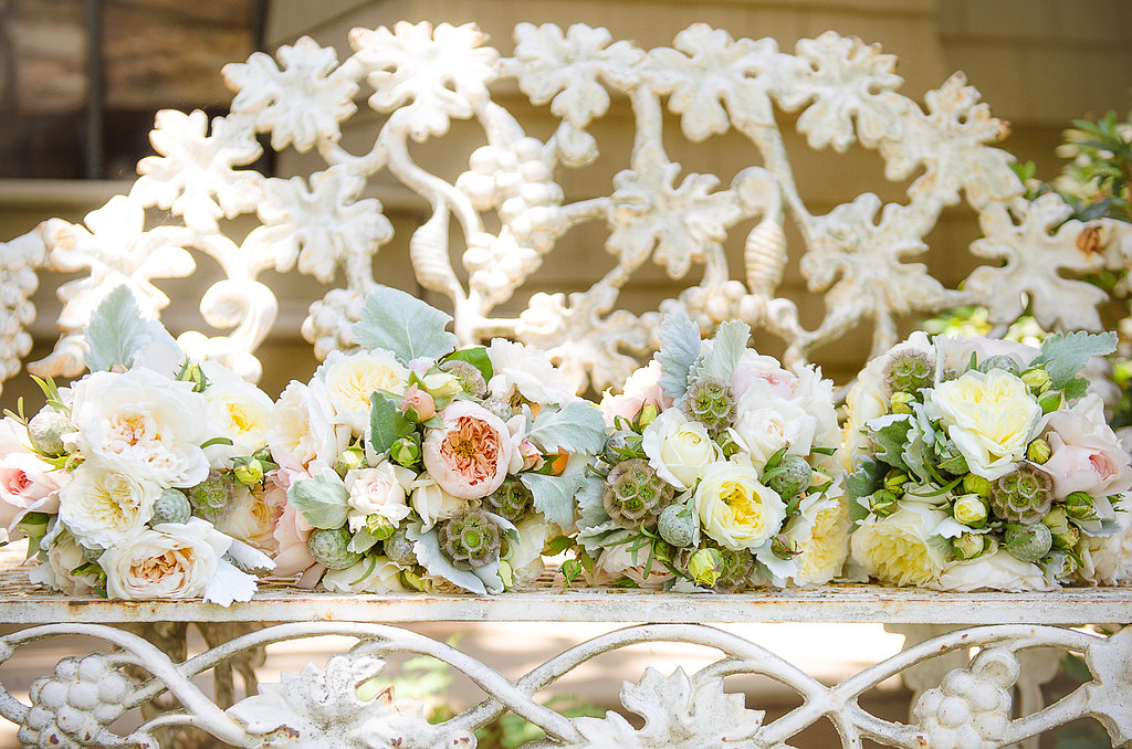 Rather than having a specific flower or arrangement in mind, the process began by first choosing plants and colors that the bride was drawn to.  Source: Juliette Tinnus
