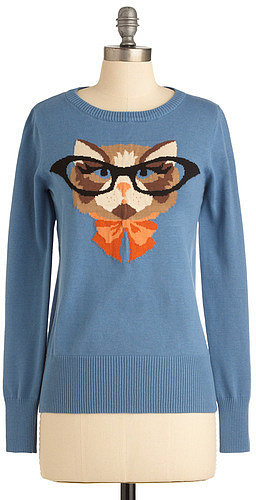 Cat Eyeglasses Sweater