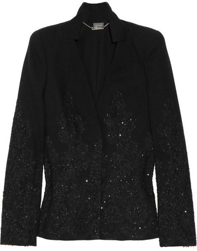 Alexander McQueen Lace and sequin wool jacket
