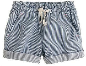 Girls' drawstring short in engineer stripe