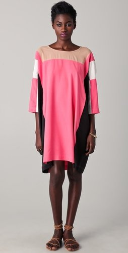 Dkny Colorblock Square Dress