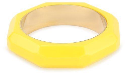 Kate Spade New York Triple Threat Faceted Yellow Bangle Bracelet
