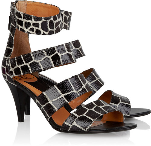 Diane von Furstenberg Krista printed leather sandals
