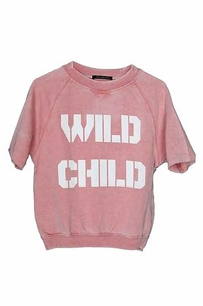 Wildfox Couture Wild Child Goonies Sweatshirt in Burnout Blush