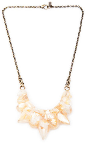 Pamela Love Resin Tribal Spike Necklace in Crushed Shell