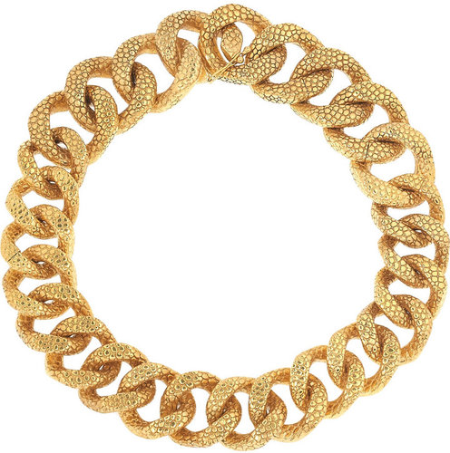 Yves Saint Laurent Gold-plated stingray-effect chain necklace