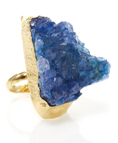 Dara Ettinger Dyed Amethyst Adjustable Ring