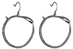Tina Tang Snake Hoop Earrings