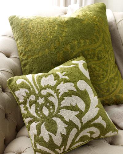 Green Paisley Pillow