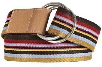 Paul Smith khaki multi stripe canvas belt