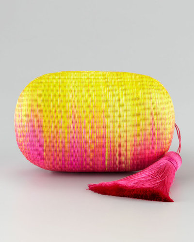 Kotur Barnes Raffia Clutch with Tassel