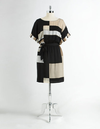 DKNYC Short Sleeve Colorblock Dress