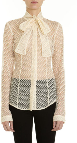 L'Wren Scott Houndstooth Lace Shirt