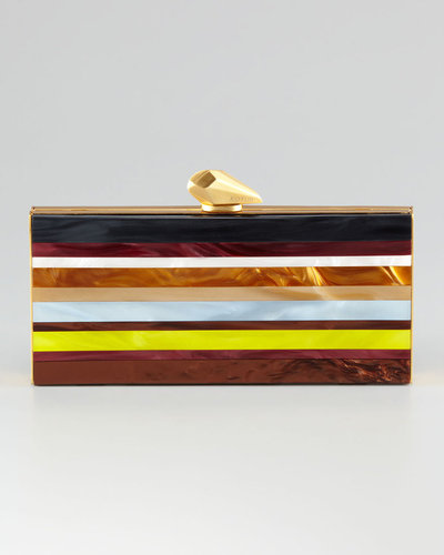 Kotur Levin Large Pyramid Striped Clutch