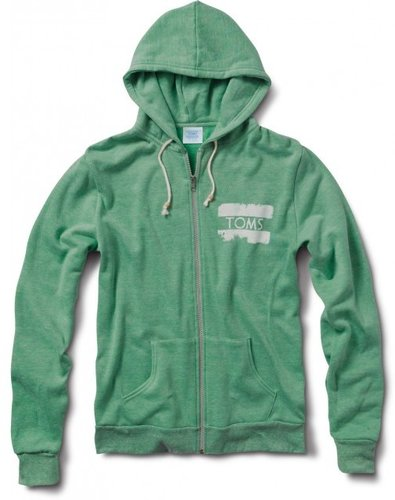 Women's heather green toms classic hoodie
