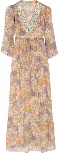 Leaves of Grass Allegria floral-print silk-chiffon maxi dress