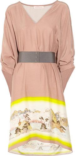 Matthew Williamson Kyoto belted silk dress
