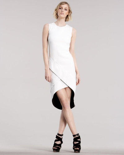J. Mendel Double-Face Cutaway Dress
