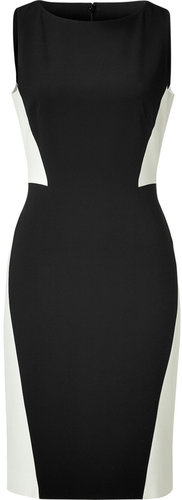 Paule Ka Black/Birch Colorblock Sheath Dress