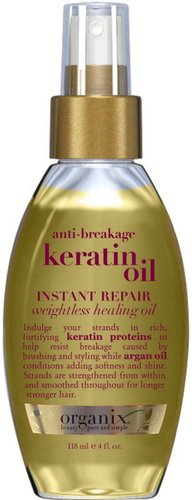 Organix Anti-Breakage Keratin Oil Instant Repair Weightless Healing Oil