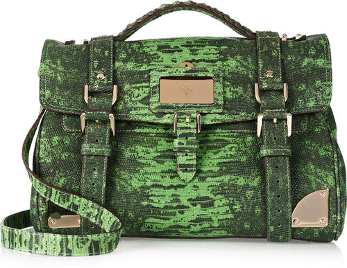 Mulberry Lizard-print leather shoulder bag