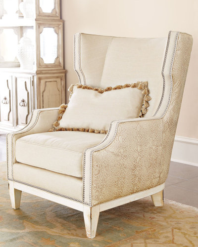 "Massoud Furniture ""Florina"" Wing Chair"