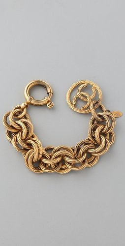 Wgaca Vintage Vintage Chanel Circle Links Bracelet