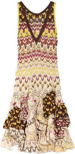 Missoni Ruffled crochet-knit dress