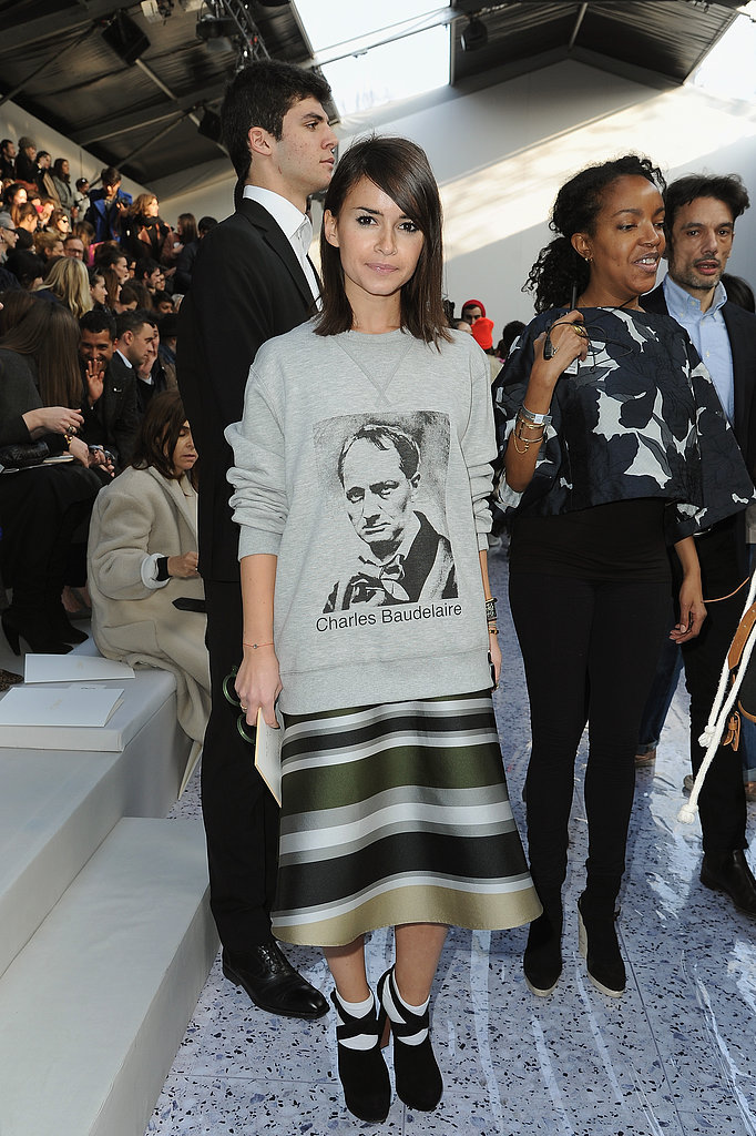 Miroslava Duma at the Chloé show.