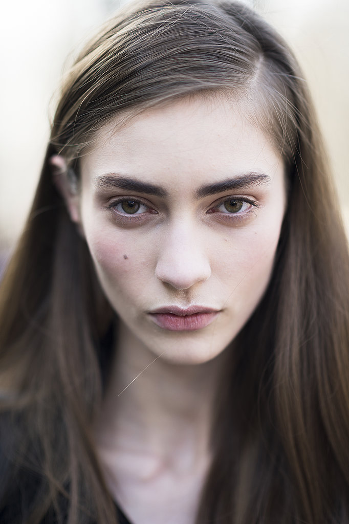 Bold brows and blushy cheeks looked gorgeous on Marine Deleeuw. Source: Le 21ème   Adam Katz Sinding