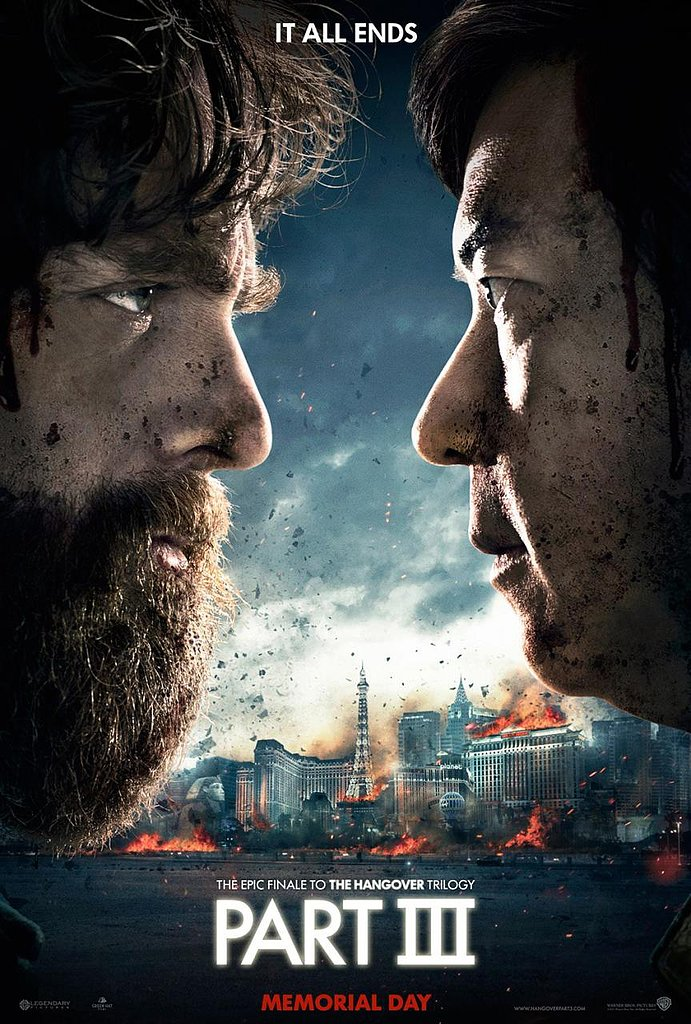 Zach Galifianakis and Ken Jeong face off over a burning Las Vegas in the first poster for The Hangover Part III.