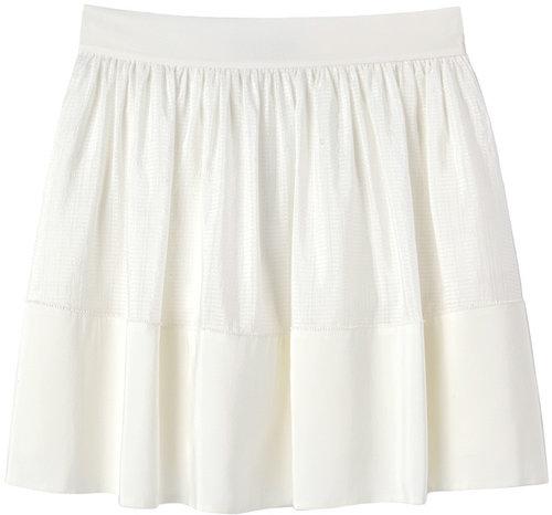 Vanessa Bruno / Check Print Silk Skirt