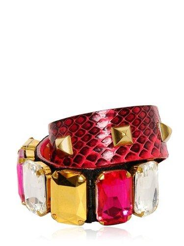 Gedebe - Crystal & Studs Snake Bracelet