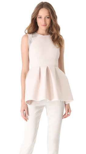 Kaelen Neoprene Peplum Top | SHOPBOP