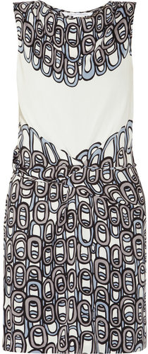 Diane von Furstenberg Amami printed crepe dress