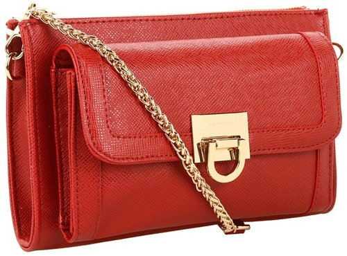 Ivanka Trump - Rebecca Crossbody Wallet (Black) - Bags and Luggage