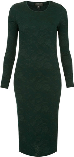 Jacquard Midi Bodycon Dress