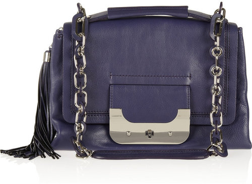 Diane von Furstenberg Harper textured-leather shoulder bag