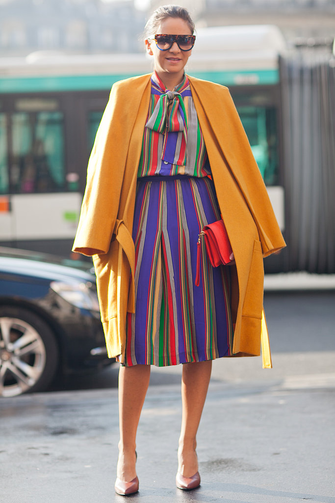 A rainbow-bright take on the '70s working-girl vibe. Source: Le 21ème | Adam Katz Sinding