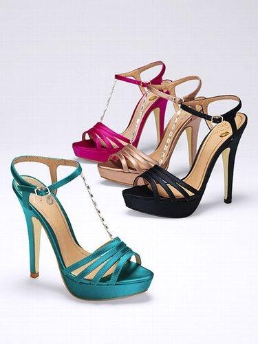Colin Stuart Jeweled T-strap Sandal