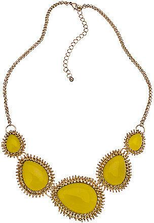 Blu Bijoux Gold Teardrop Bib Necklace