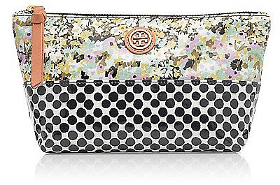 Tory Burch Mix Print Small Slouchy Cosmetic Case