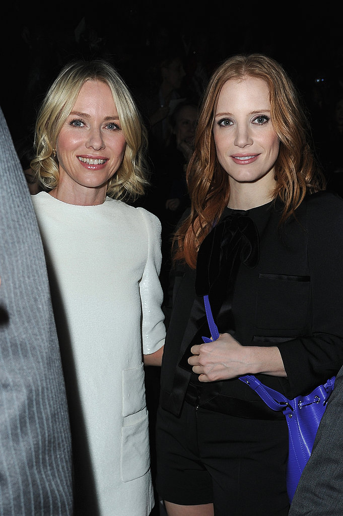 Naomi Watts and Jessica Chastain linked up at Louis Vuitton.
