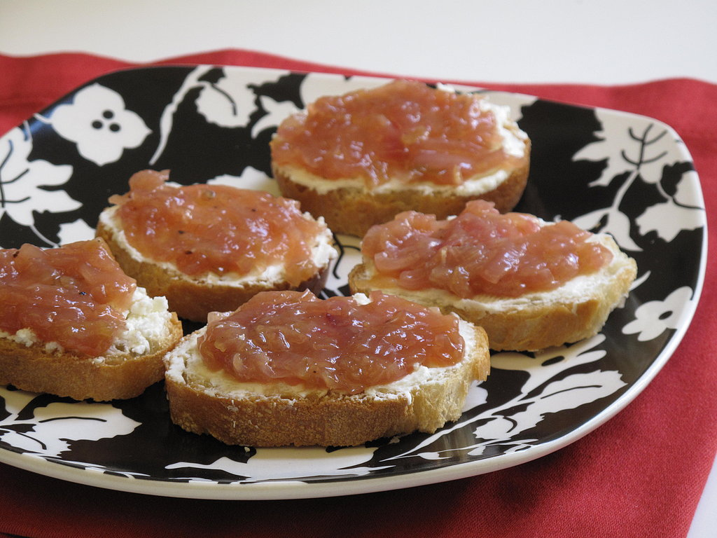 What to Make: Spring Onion Jam With Goat Cheese Toasts